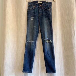 """Madewell 9"""" High Riser Skinny Skinny Jean size 24"""